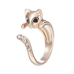 Dejligt Unik Kat Dame Fashion Rings Gaver (129140494)