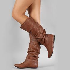 Donna Similpelle Senza tacco Punta chiusa Stivali Stivali al ginocchio con Altrui scarpe (088187306)