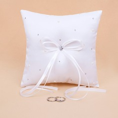 Starlight Ring Pillow in Satin With Rhinestones (103018416)