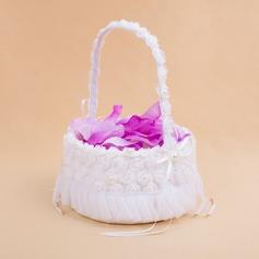 Piuttosto Cesto di fiori in Raso con Bianco Organza Rosa (102025558)