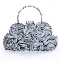 Elegant Seide Wristlet Taschen/Oberer Griff (012005403)