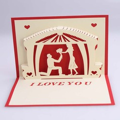 Three-dimensional Happy Lover Greeting Cards (114059158)