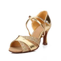 Kvinder Kunstlæder Hæle sandaler Latin med Ankel Strop Dansesko (053052423)