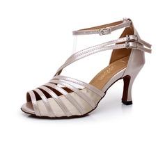 Donna Similpelle Tacchi Latino con Fibbia Scarpe da ballo (053041182)