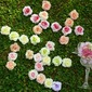 Colorful/Lovely Single Flower Fabric Decorations (set of 12) (123062548)