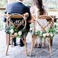 Stile classico/Bella Stile classico Legno Wedding Sign (Set di 2) (131167241)