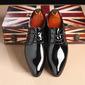 Men's Leatherette Lace-up Dress Shoes Men's Oxfords (259187615)