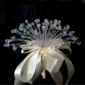 Elegant Round Satin/Crystal Bridesmaid Bouquets - (123031503)