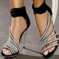 Vrouwen Satijn Stiletto Heel Sandalen met Kristal Rits schoenen (087114601)