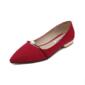 Kvinnor Mocka Flat Heel Platta Skor / Fritidsskor Stängt Toe med Oäkta Pearl skor (086094411)