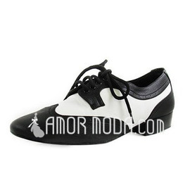 Men's Real Leather Flats Latin Ballroom Practice Dance Shoes (053012954)