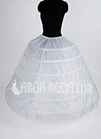 Women Nylon/Tulle Netting Floor-length 1 Tiers Petticoats (037004105)
