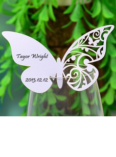 Butterfly Design Pearl Paper Place Cards (set of 12) (131037411)