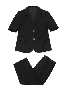 Boys 2 Pieces Solid Ring Bearer Suits /Page Boy Suits With Jacket Pants (287199770)