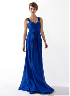 Empire Sweetheart Floor-Length Chiffon Bridesmaid Dress With Ruffle (007051835)
