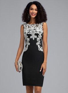 Платье-чехол Круглый Длина до колен Jersey Коктейльные Платье (016205793)
