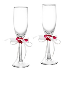 Floral Theme Toasting Flutes (Set Of 2) (126032353)