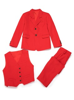 Boys 3 Pieces Solid Ring Bearer Suits /Page Boy Suits With Jacket Vest Pants (287199761)
