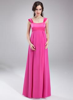 С завышенной талией возлюбленная Длина до пола шифон Свадебные Платье Для Беременных Невест с Рябь (045004394)
