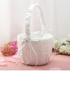 Bridesmaid Gifts - Elegant Lace Flower Basket (256170692)