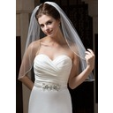 One-tier Elbow Bridal Veils With Pencil Edge (006034103)