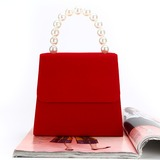Personalized Style Velvet Clutches/Top Handle (012200765)