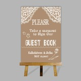 Personalized Guestbook Sign With Easel (101201188)