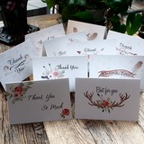 Floral Style Side Fold Thank You Cards (Set of 10) (114205149)