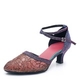 Women's Mesh Heels Ballroom Dance Shoes (053201972)