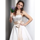 Simple Charmeuse Sash With Bow (015036871)