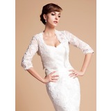 Half-Sleeve Lace Wedding Wrap (013014587)
