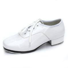 Женщины Лакированная кожа На каблуках Степ с Шнуровка Обувь для танцев (053041996)
