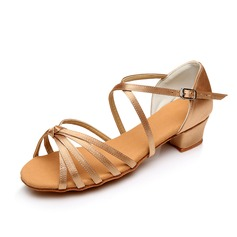 Kids' Satin Sandals Flats Latin With Bowknot Dance Shoes (053007104)