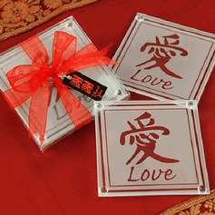 Chinese or Asian-themed LOVE Coaster (set of 2pcs) (051145153)