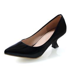 Women's Leatherette Kitten Heel Pumps Closed Toe shoes (085060047)