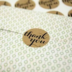 24pcs R3.5cm Thank You Stickers DIY Gift Wrapping Materials (051154080)