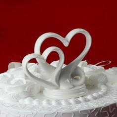 Двойные сердца керамика Свадьба Фигурки для торта (119030540)