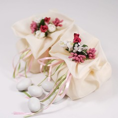 Pretty Floral Theme Favor Bags With Flowers/Ribbons (Set of 12) (050046721)