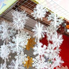 Christmas Snow flakes White Snowflake Ornaments (6 pieces) (051148635)