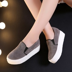 Women's Suede Wedge Heel Closed Toe Wedges With Split Joint shoes (086119394)