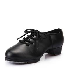 Женщины кожа На каблуках Степ с Шнуровка Обувь для танцев (053041984)