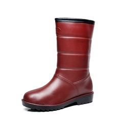 71383955526 Kvinnor PVC Kilklack Stövlar Halva Vaden Stövlar Gummistövlar med Andra skor  (088138751)