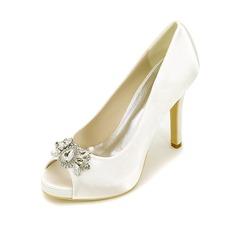 Женщины шелка как атласное Высокий тонкий каблук Платформа На каблуках с Другие (047111552)